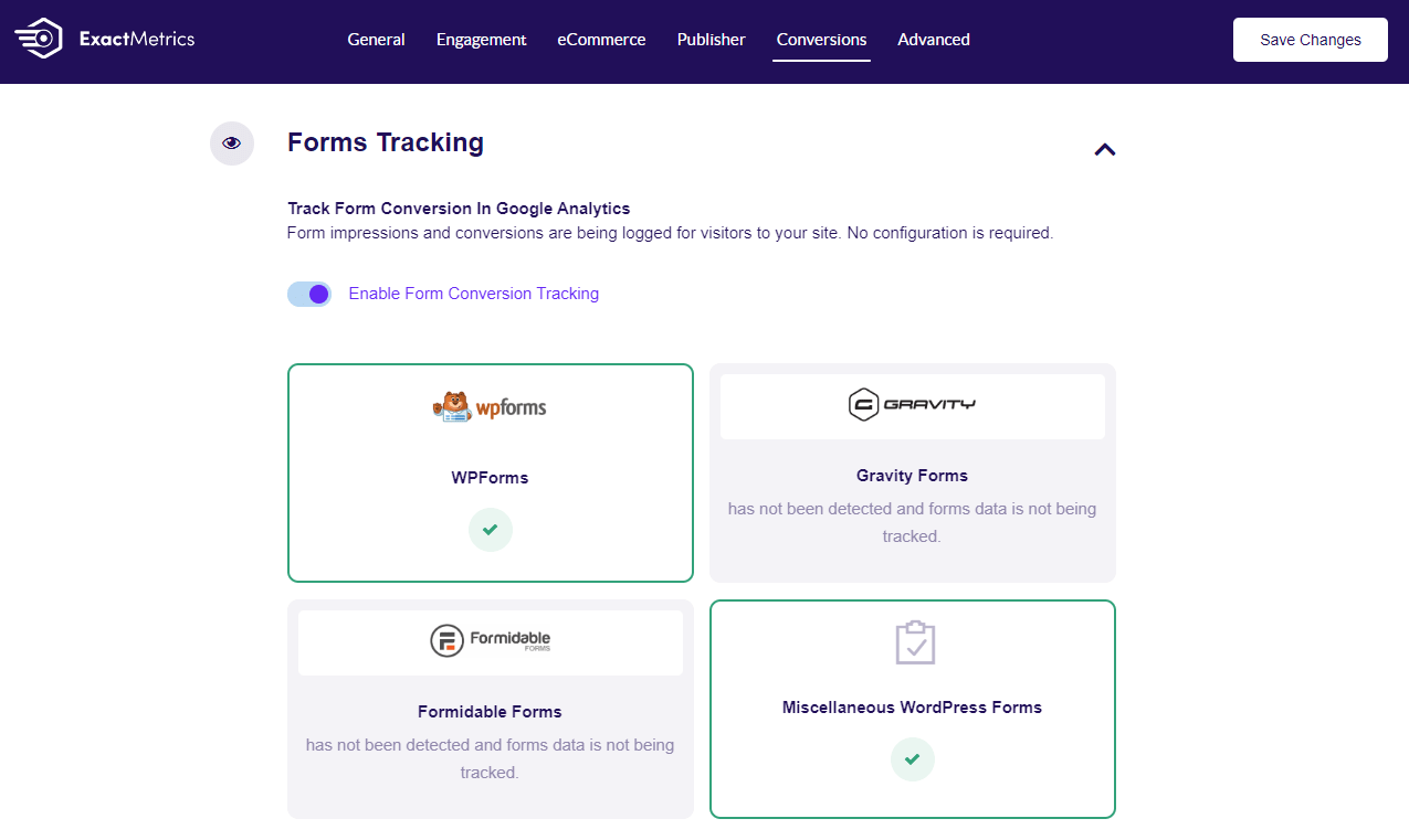 form tracking