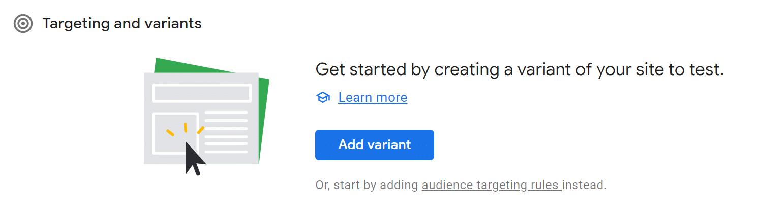 create-variant-google-optimization