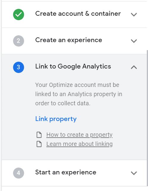 link-google-analytics-to-google-optimize