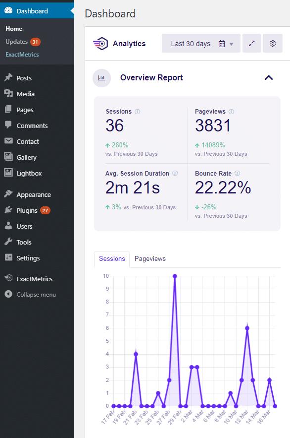exactmetrics-dashboard-report