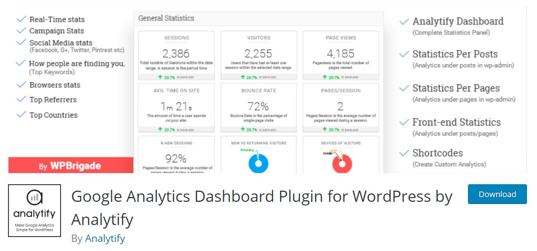 analytify best google analytics plugin for wordpress