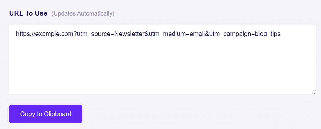 copy custom url direct traffic