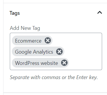 dont use too many wordpress tags