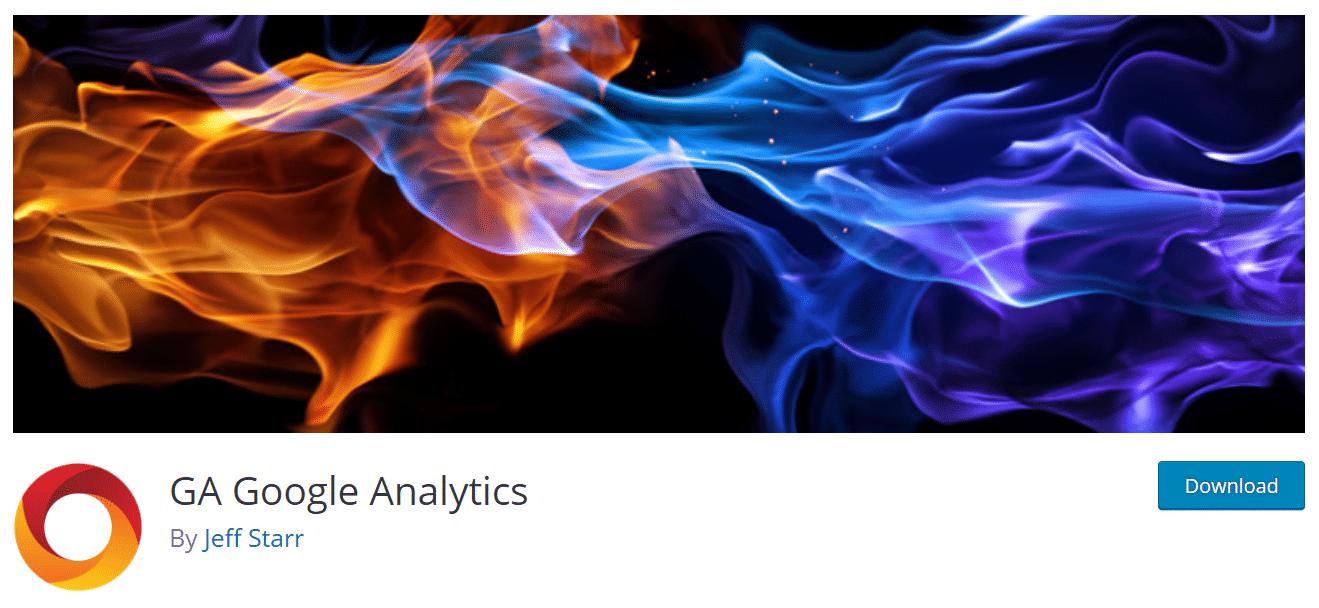 GA Google Analytics plugin wordpress
