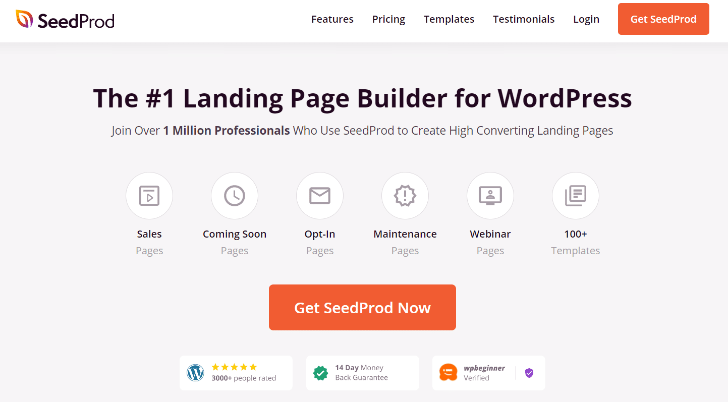 seedprod best landing page builder