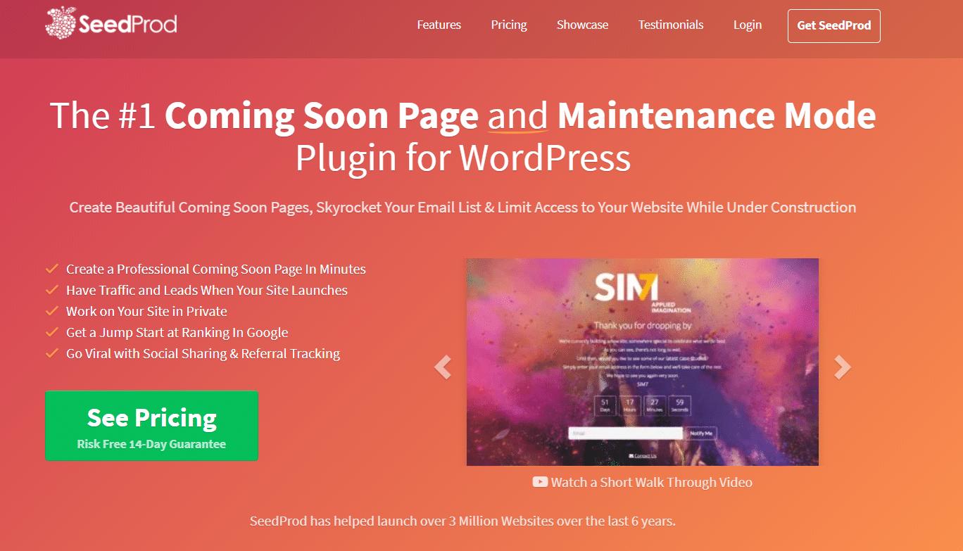 seedprod wordpress plugin