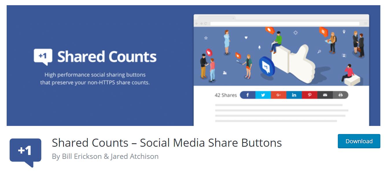 share counts wordpress plugin for social media