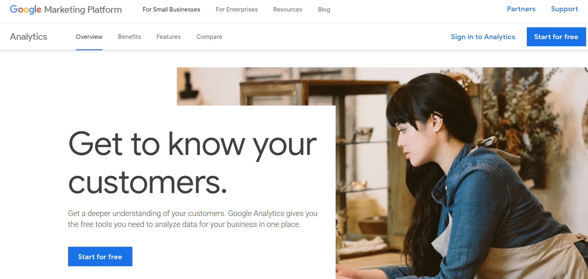 create a google analytics account