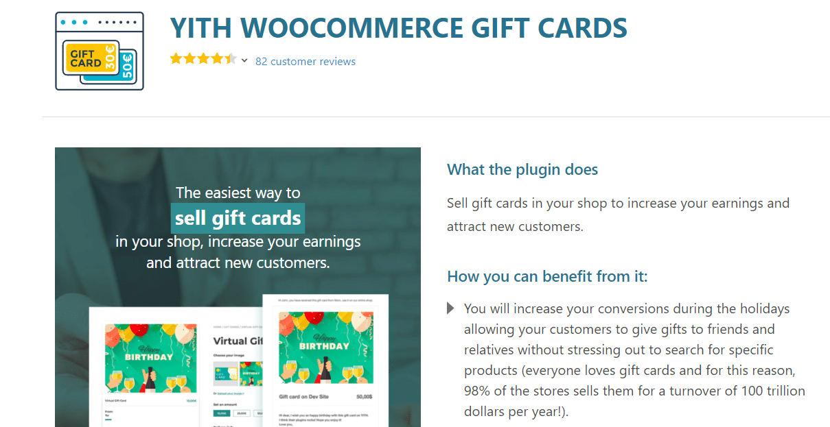 gift cards best woocommerce plugin