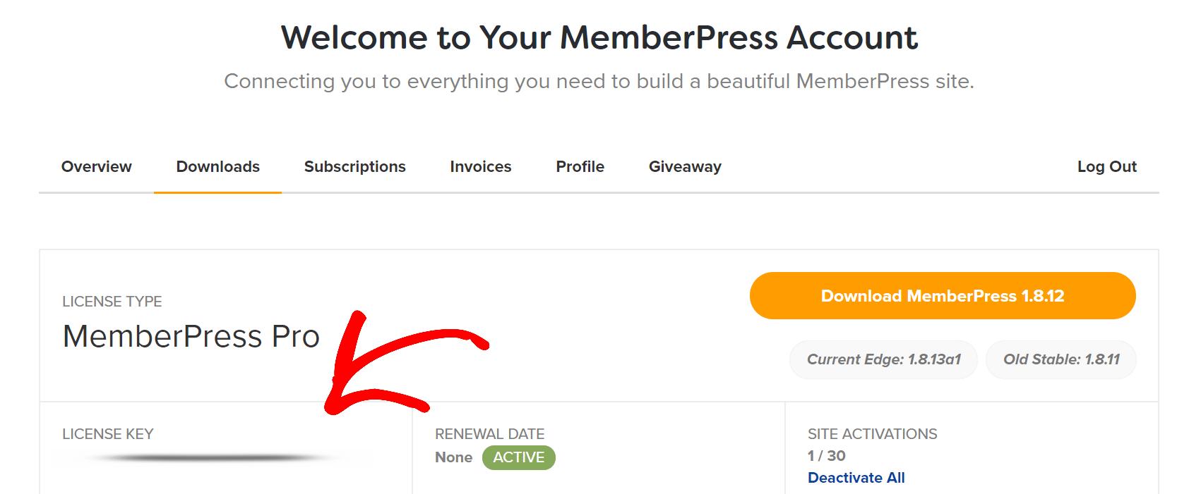 license key memberpress