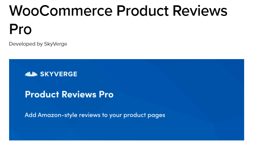 product reviews woocommerce plugin