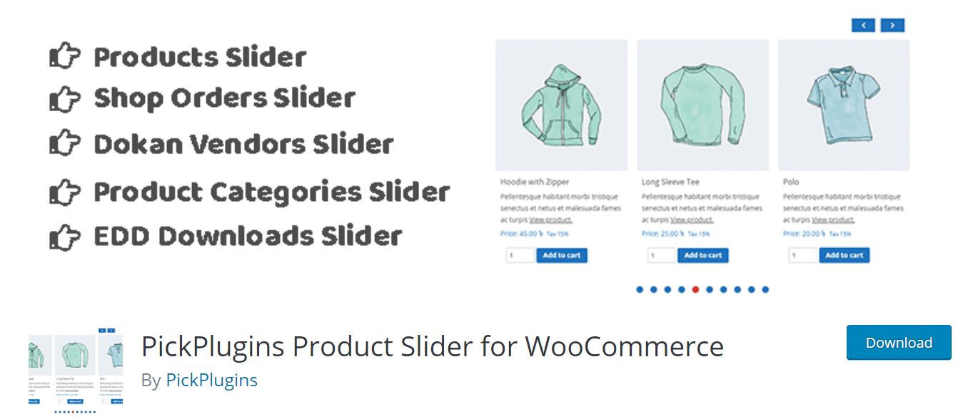 woocommerce product slider plugin