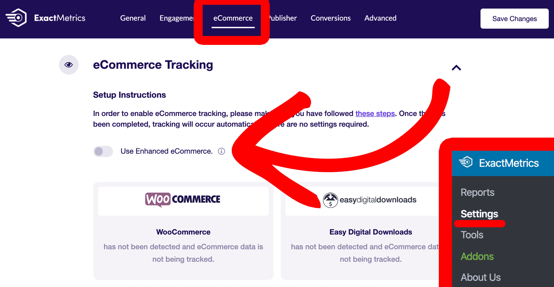 enable-enhanced-ecommerce-in-exactmetrics