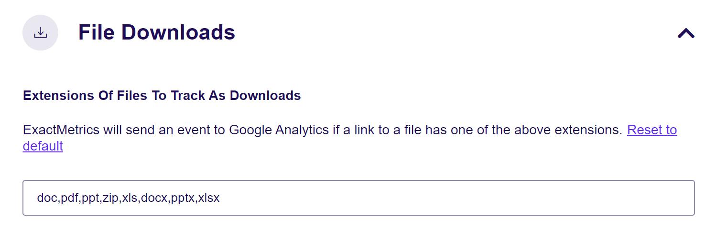 file download settings