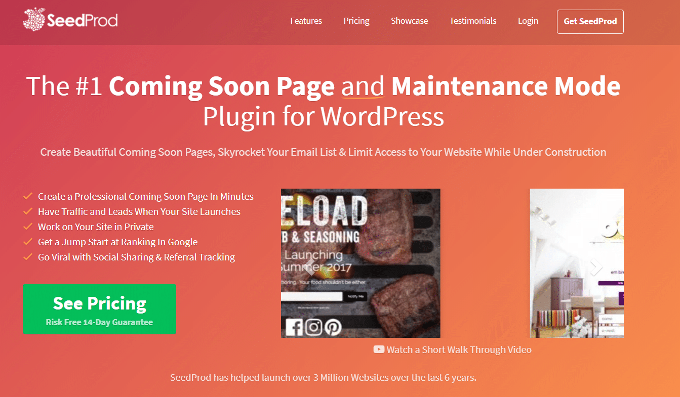seedprod best coming soon wordpress plugin