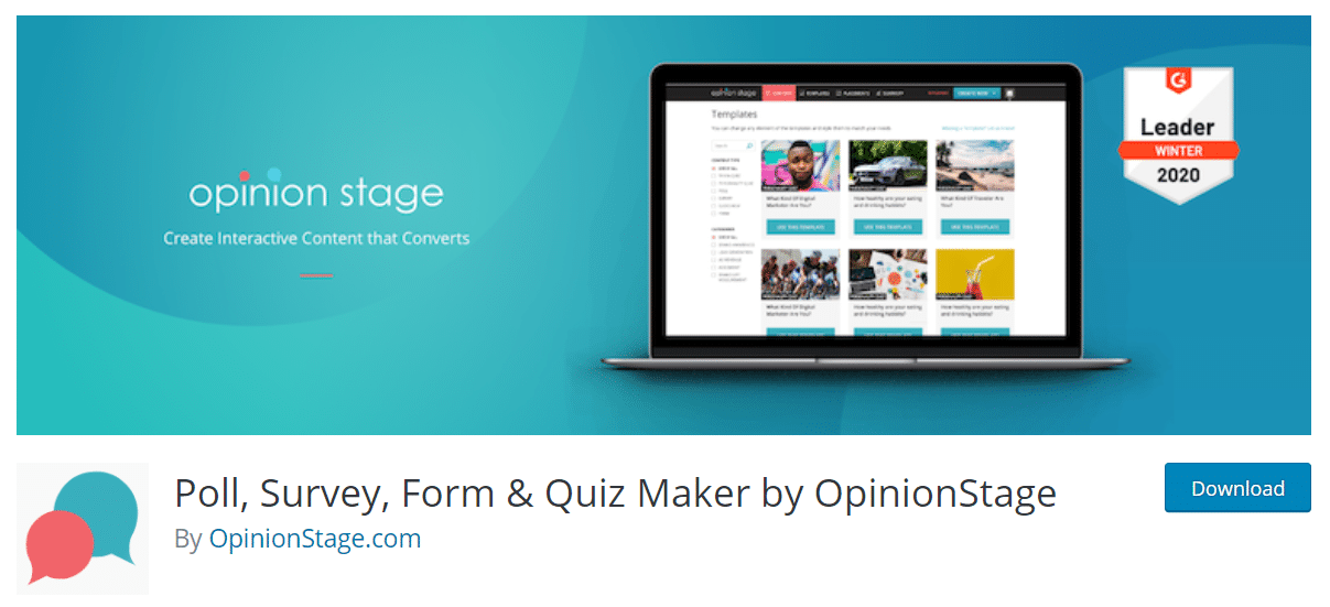 poll survey form and quiz maker plugin for wordpress