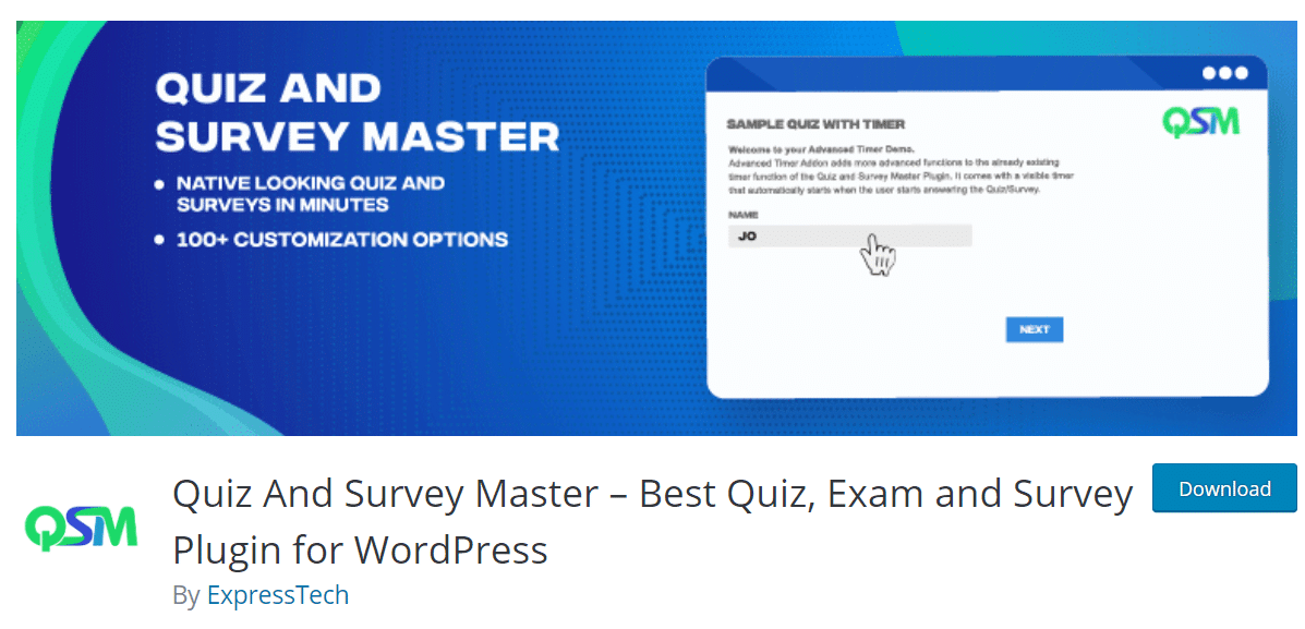 quiz and survey master wordpress plugin