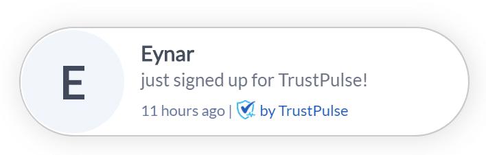 sales notification popup