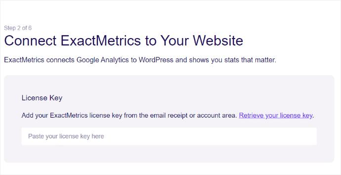 Connect ExactMetrics License Key
