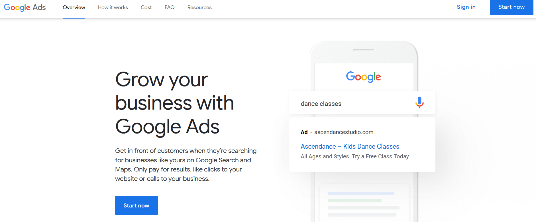 create an account google ads