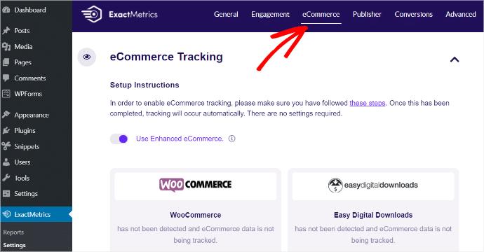 eCommerce Tracking Addon ExactMetrics
