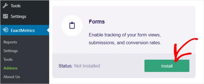 ExactMetrics Form Addon
