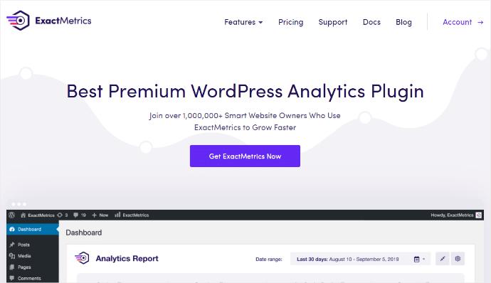 exactmetrics best premium wordpress analytics plugin