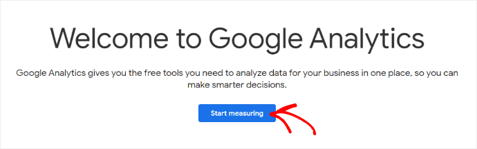 Google Analytics Setup Start Measuring