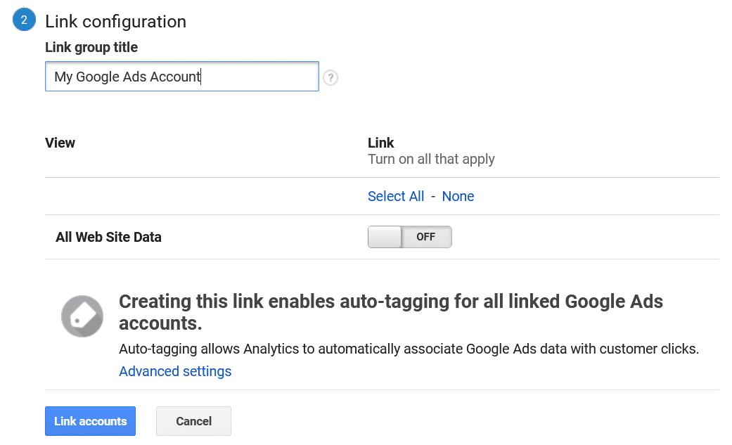 link configuration
