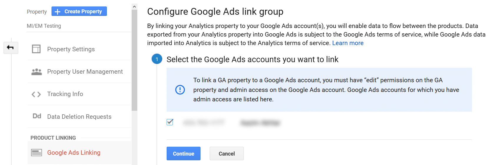 link google analytics with ads