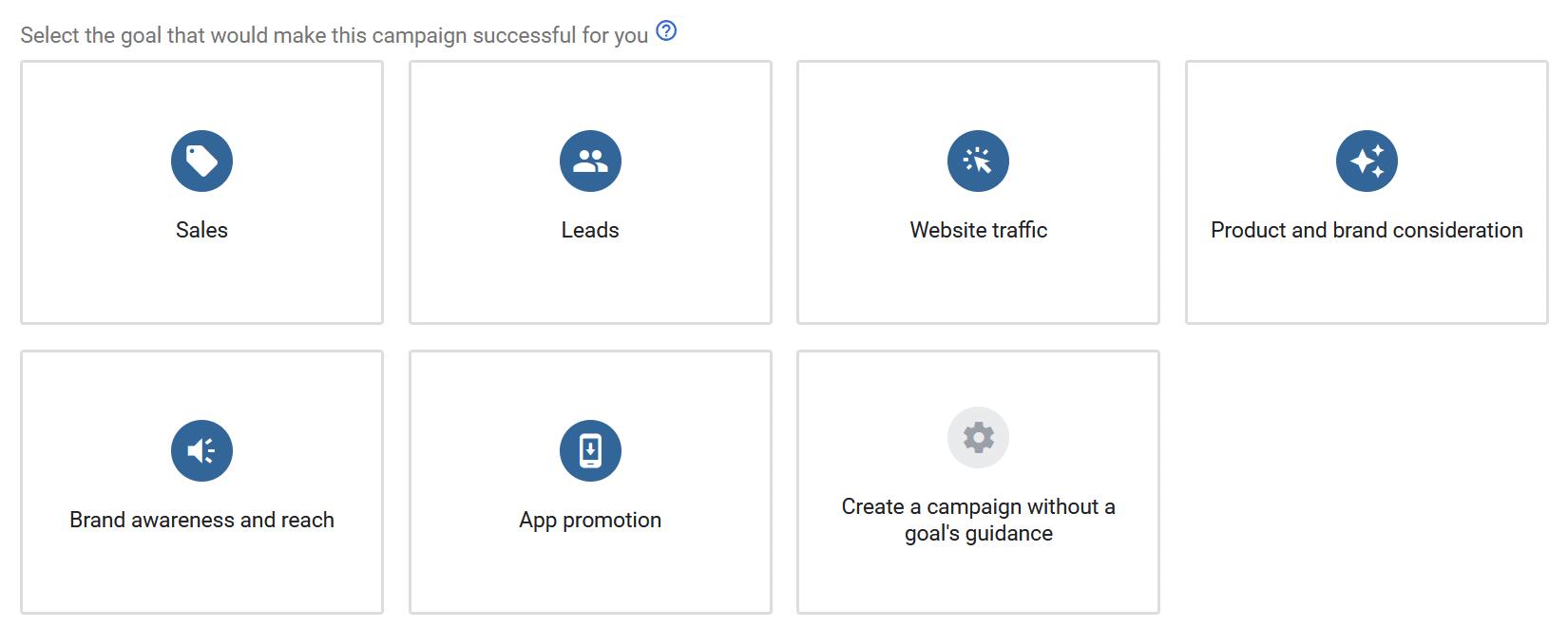 select ads goal