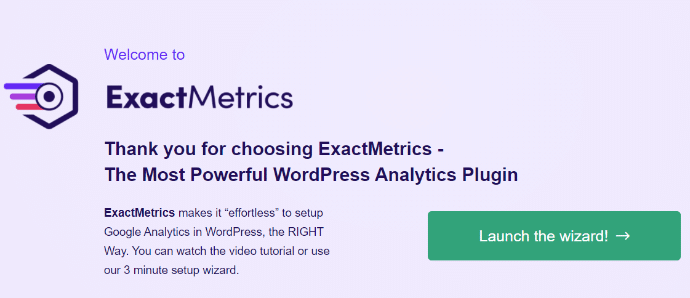 welcome-exactmetrics-launch-wizard