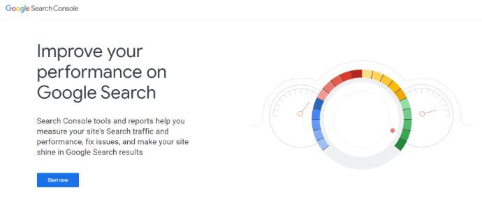 start now search console