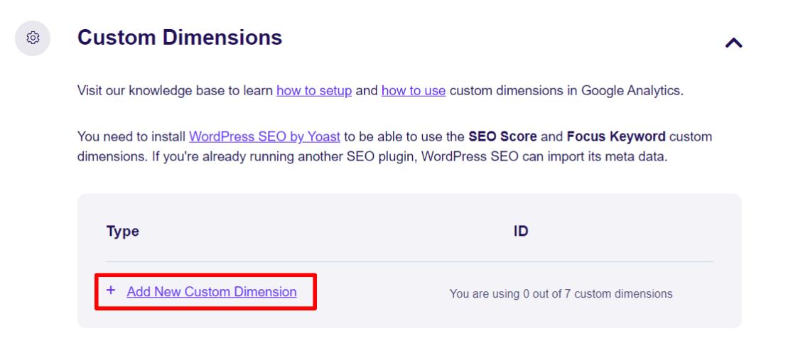 Custom Dimensions in ExactMetrics