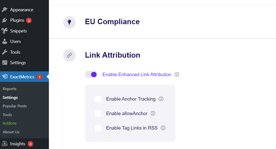 Enhanced Link Attribution in ExactMetrics