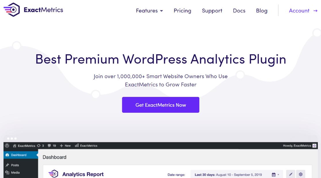 ExactMetrics Google Analytics Plugin