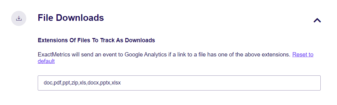 File Downloads Extensions