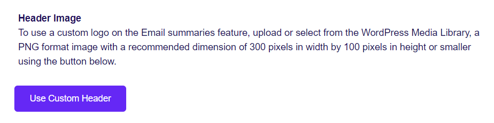 Custom Google Analytics email summary header