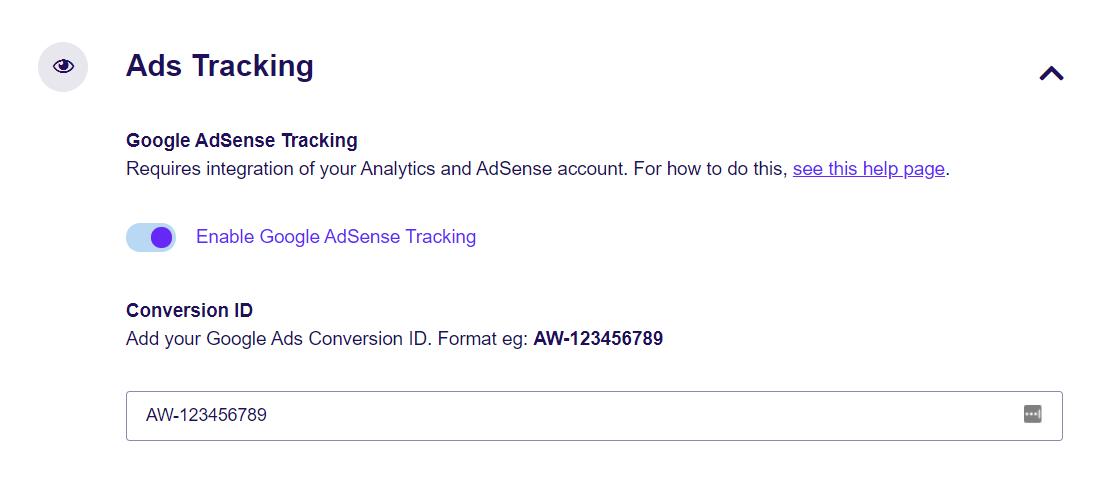 Ads conversion tracking in ExactMetrics